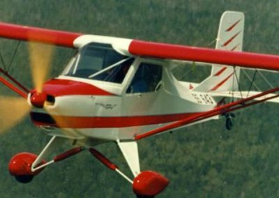 Australian LightWing GR912 Red In Flight