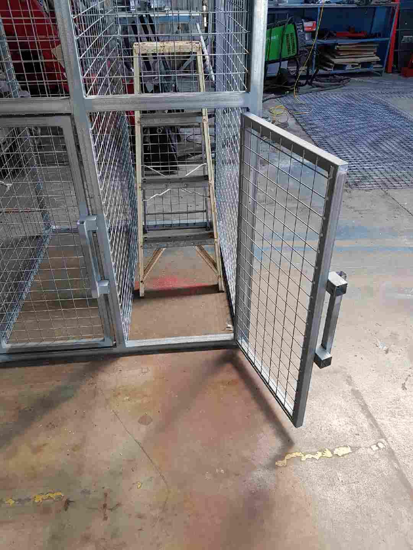 Fully welded caged frame