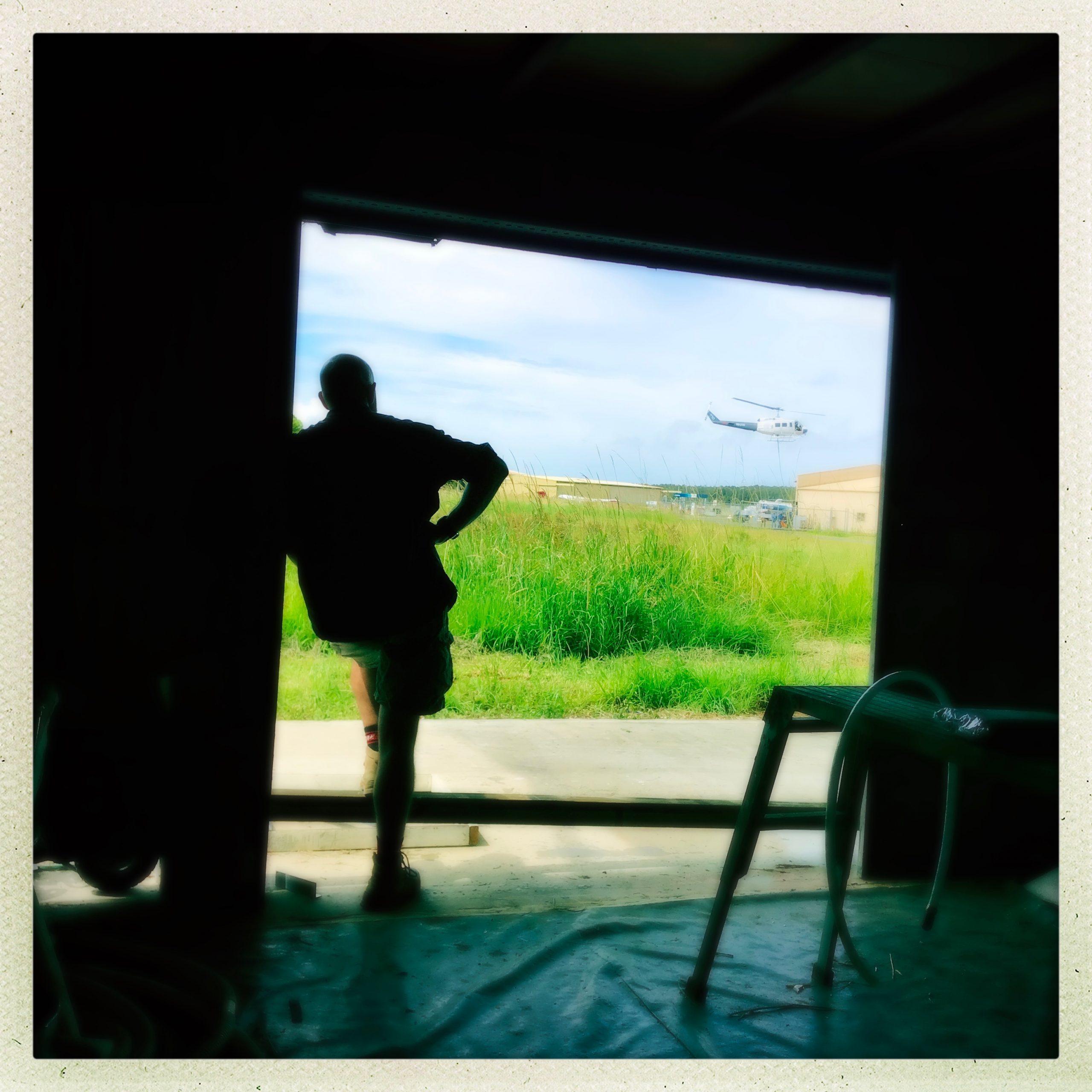 Nick at the Hanger Door